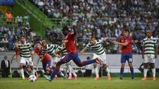 Sporting CP 2-1 CSKA Moskva Islam Slimani struck late on as the hosts made home advantage tell with a dominant display after Seydou Doumbia missed a first-half spot kick in Lisbon.