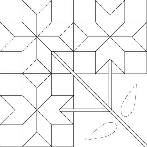 North Carolina Lily Quilt Pattern | Item Details – Department of Human Ecology – University of Alberta