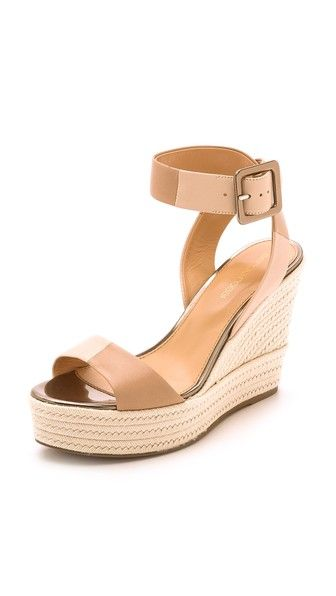 sergio rossi wedge sandals - the perfect nude wedge