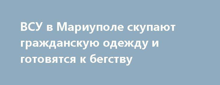 ВСУ в Мариуполе скупают гражданскую одежду и готовятся к бегству http://rusdozor.ru/2017/03/27/vsu-v-mariupole-skupayut-grazhdanskuyu-odezhdu-i-gotovyatsya-k-begstvu/  Солдаты ВСУ в Мариуполе начали массово закупать гражданскую одежду, чтобы в случае наступления войск ДНР иметь возможность смешаться с местным населением и бежать из города. Об этом сообщил замкомандующего оперативным командованием ДНР Эдуард Басурин. Разведка ДНР располагает информацией, что Мариуполь ...
