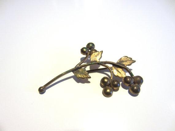 40s Branch Brooch // Vintage Hatpin