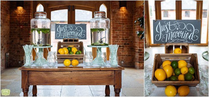 Birmingham Wedding Photographer - Wedding drinks station