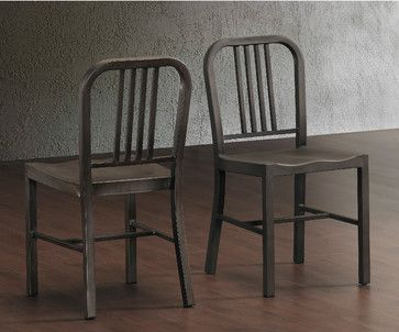 these durable steel chairs provide years of style and service the classiclook steel chairs feature a vintage finish with a comfortable contoured seat and