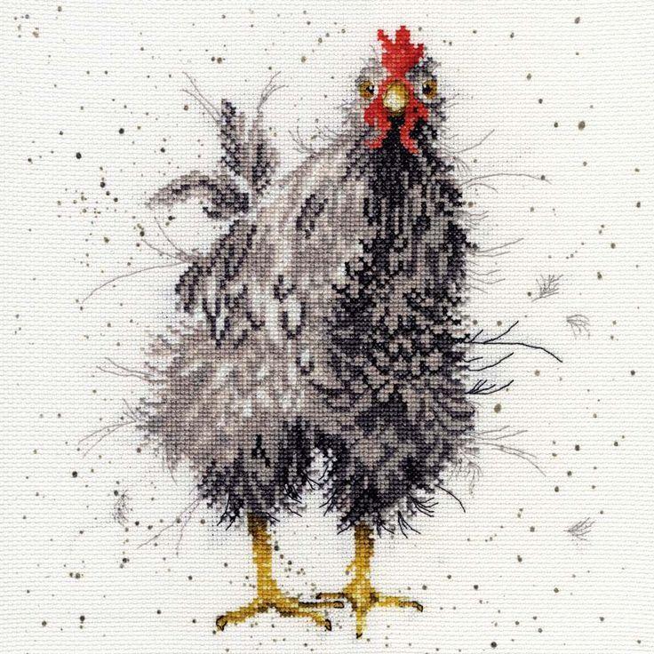 Curious Hen Cross Stitch Kit   sewandso   Hannah Dale   Bothy Threads