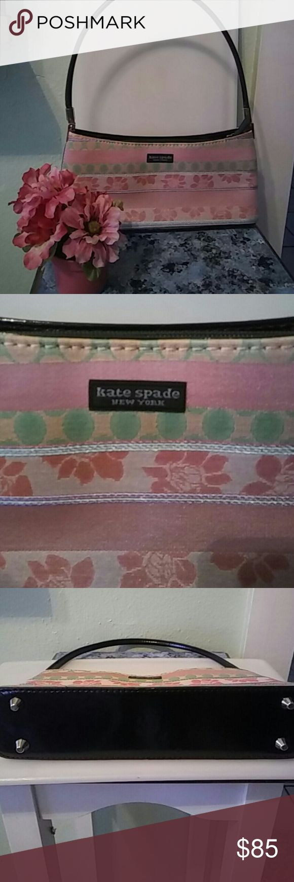 💖SALE💖KATE SPADE HANDBAG Authentic gorgeous Kate Spade handbag in mint condition excellent pre-loved condition beautiful colors very clean inside and out would make a great gift comes in a beautiful gift box.💖 NWOT.  **FIRM** **MINT CONDITION**LOWEST DROP IN PRICE** Kate spade Bags Mini Bags
