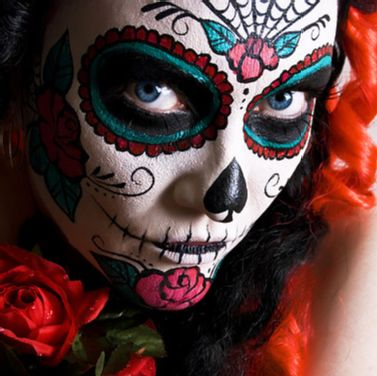 the catrin mens dia de los muertos day of the dead face paint tutorial - Halloween Day Of The Dead Face Paint