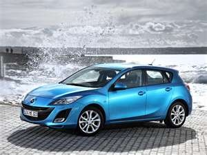 My current car - 2010 Mazda 3 - Celestial Blue.  I love my Zoom-Zoom!