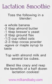 Diary of a Fit Mommy: Try It Tuesday: Lactation Smoothies