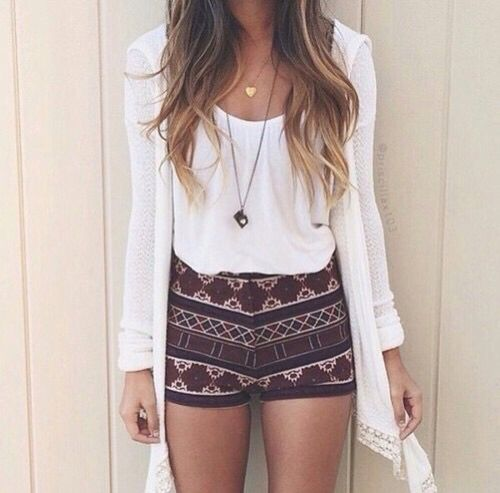 White Crop Top and Short