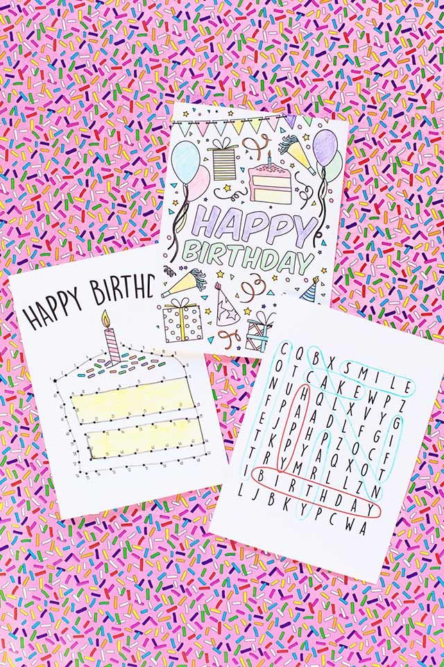 30 Handmade Birthday Card Ideas DIY Crafts Kids birthday cards