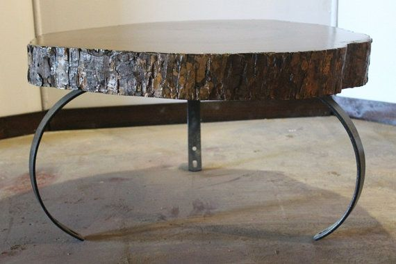 Handcrafted & Reclaimed Solid Wood Slab Coffee Table by AaCcBb, $1495.00