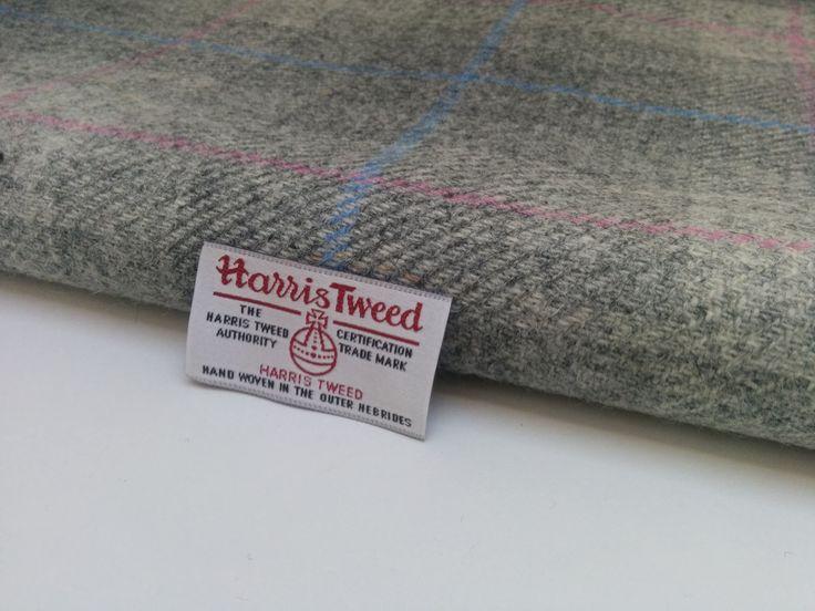 Harris Tweed Fabric Gray Check by EsplanadeLondonCloth on Etsy