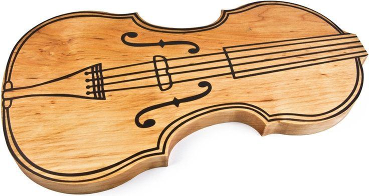 Geigen Brotzeitbrett aus Erle #geige #violine #vesperbrett #unterlage # gedeckter tisch