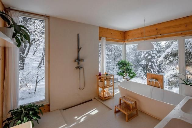 Salle de bain style nature.