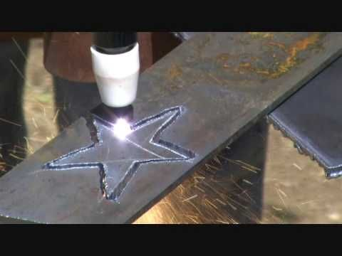 Using The Luxor Industrail Equipment Plasma Cutter Cut-40D Cut-40 - YouTube