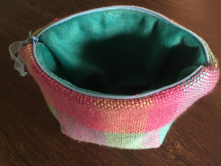 Hand woven fabric on Ashford loom