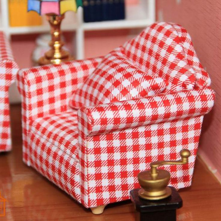 Cheap doll neck, Buy Quality doll purse directly from China doll ring Suppliers: 1:12 Dollhouse Living Room Single Sofa furniture Doll for Play Armchair Toys  kids Toys & Hobbies
