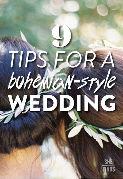 How to throw a Bohemian style wedding
