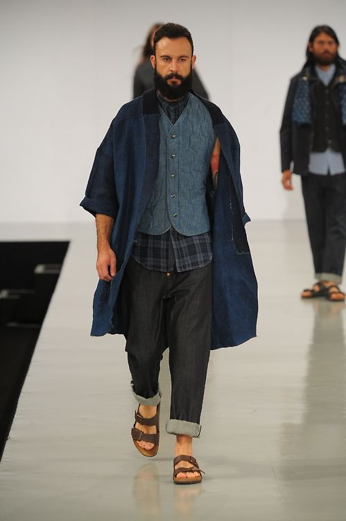 A Hogarth of Northumbria University drew inspiration from traditional Japanese denim work wear, noting clean sartorial finishes and a kimono-style jacket as standout features.
