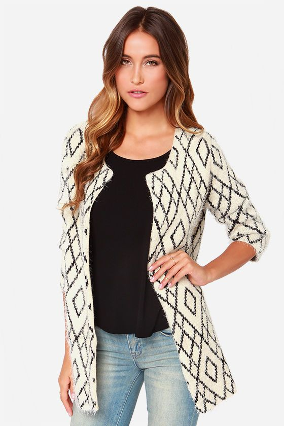 This is a sweater but since it looks and functions more like a coat, I'm putting it here in this category.  No matter what it is, I love it.