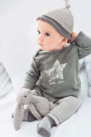 Buy Four Piece Grey Marl Star And Stripe Set (0-18mths) online today at Next: United States of America