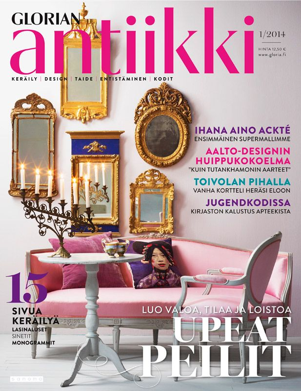 Magazine cover 1/2014. Mirrors from different style periods. Photo Piia Arnould.