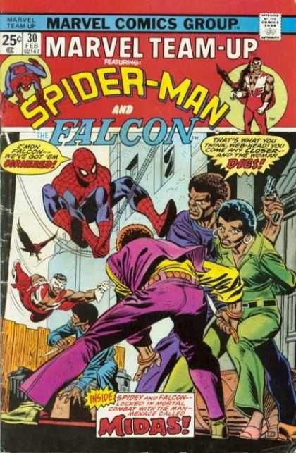 Spider-man - Falcon - Team Up - Afro - Mod Squad