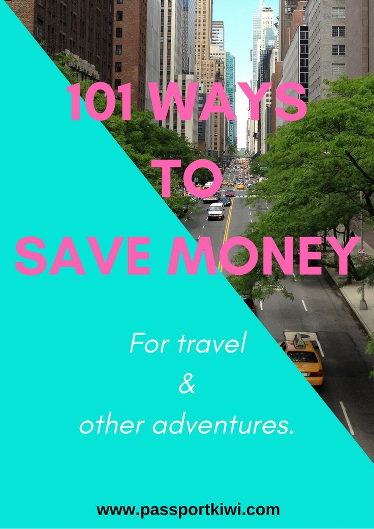 101 WAYS TO SAVE MONEY FOR TRAVEL AND OTHER ADVENTURES! Get this e-book FREE when you subscribe to passportkiwi.com I have personally used so many of these ideas to afford to travel and I hope they will help you get on that plane! Stop wishing and start travelling!