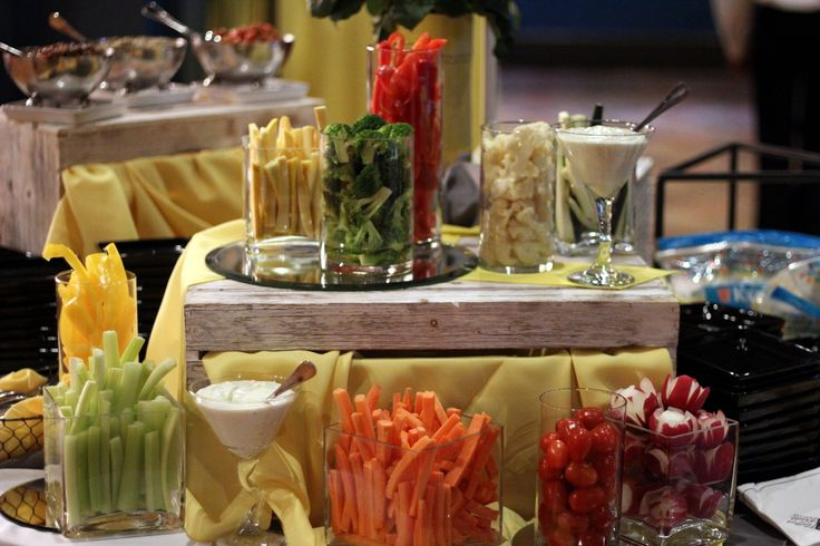 Vegetable Display from Wedding Welcome Table. Appetizers with a nice display. Baltimore Wedding