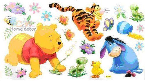 HL1202 Winnie the Pooh, Tigger, Ferkel EEYORE & Dekor fürs Kinderzimmer Wandtattoo 60 x 33cm Disney http://www.amazon.de/dp/B005WKG2ZU/ref=cm_sw_r_pi_dp_QhKNwb0CJ4NXR