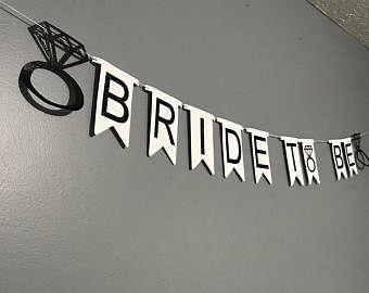 Black Glitter Bride to Be, Wedding Decorations, Bachelorette Party Decorations, Bridal Shower Decorations,