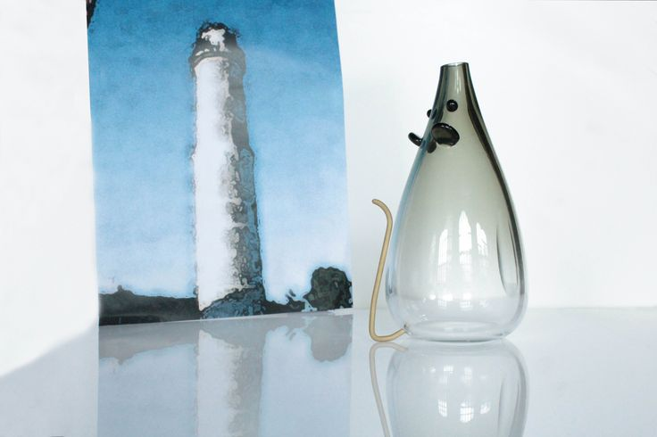 """Pantegana"" - Murano Glass Vase from the ""Water Glass Collection. By #AbateZanetti & #ChiaramonteMarin > http://www.waterglasscollection.it/water-glass-collection-pantegana-di-laguna/?trid=PIpntg23071026 #design #glass #art #ornament #handcrafted #murano #vetro #artistic #skill #exhibition"