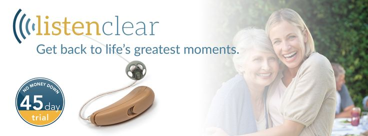 The ListenClear Pro lets you hear everything, wherever you are and whatever your doing. Call now for a 45 day FREE in-home trial. 888-895-1162