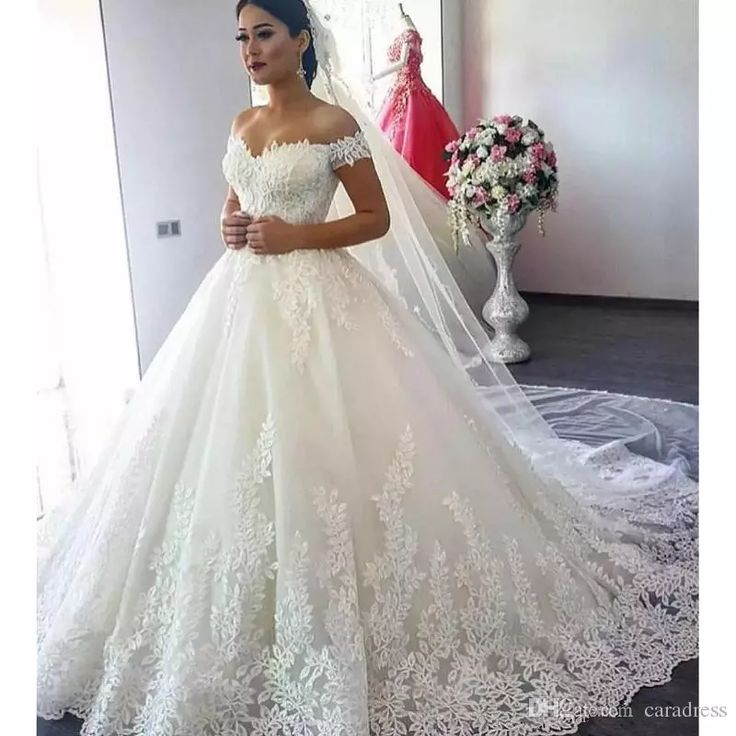 Discount 2017 Elegant Lace Off Shoulder Wedding Dresses Vintage Designer Sequin Applique Princess Arabic Plus Size Wedding Bridal Gowns Zipper Back Unusual Wedding Dresses Vintage Inspired Dresses From Caradress, $173.87| Dhgate.Com