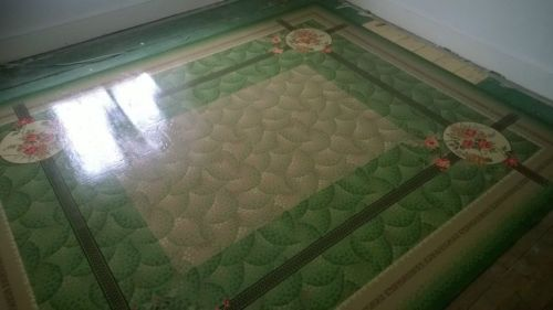 lino vinyl flooring retro vintage faux rug/carpet | ebay | 1930s