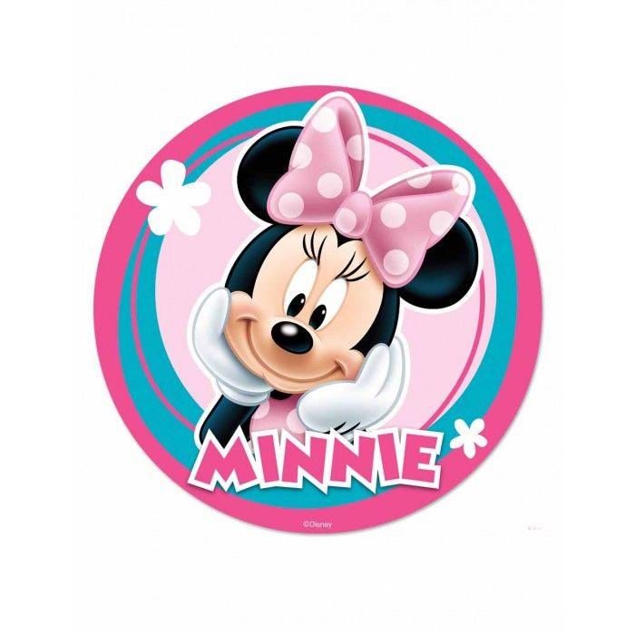 Minnie Mouse Yuvarlak Yenilebilir Pasta Resim Baskısı
