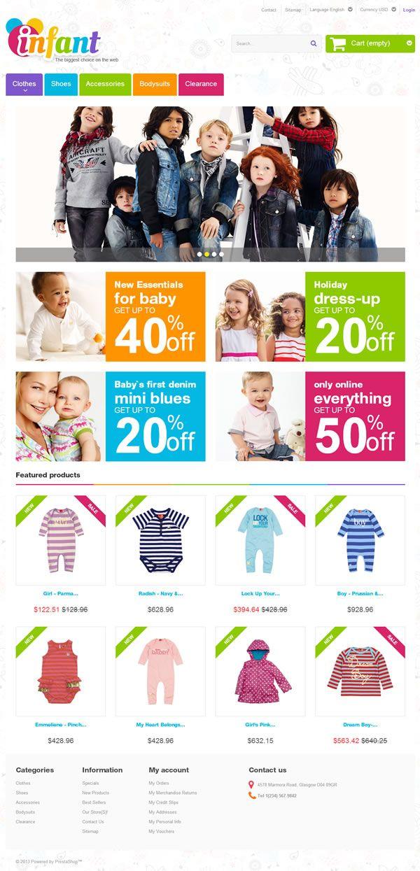 Prestashop template #clothing #ecommerce #responsive #flat