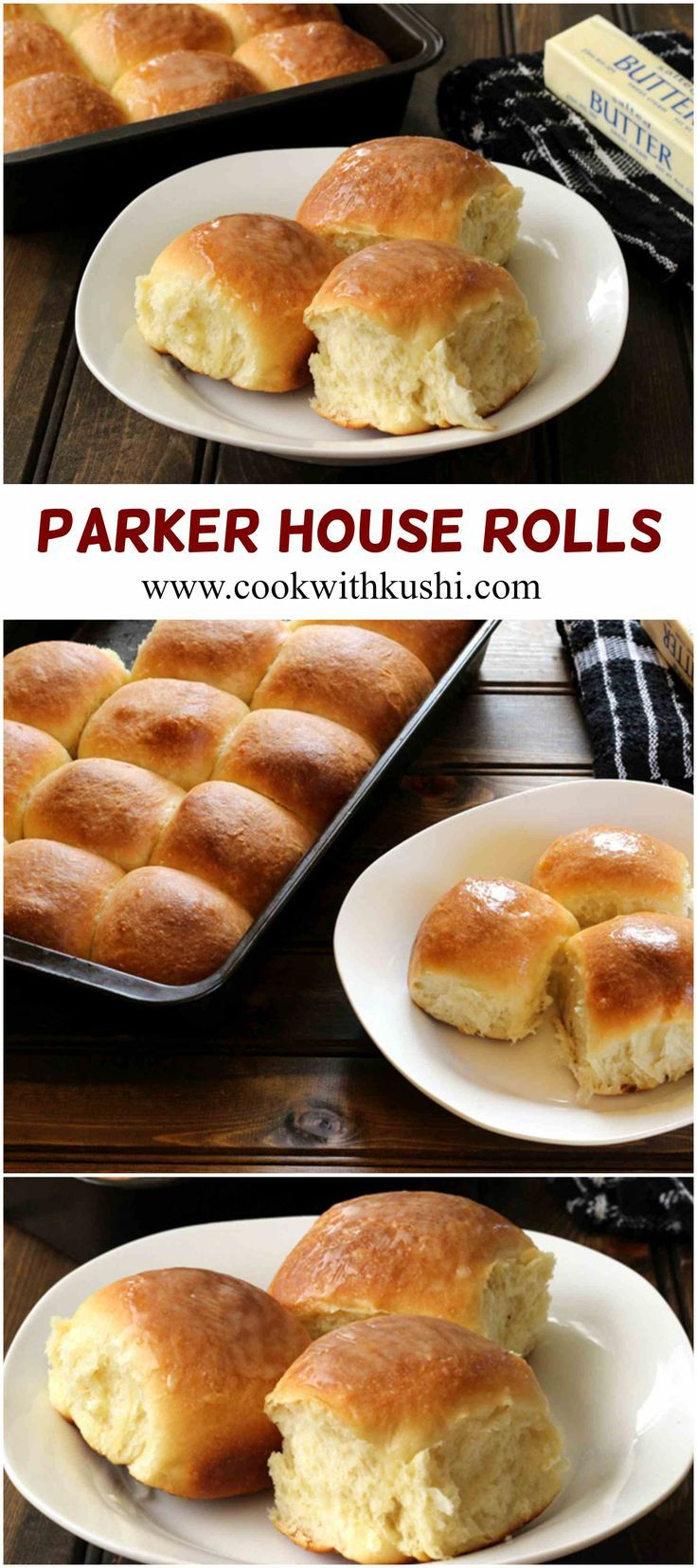 Parker House Rolls are soft, irresistible and delicious buttery rolls that one must have on their dinner table this holiday season  #thanksgiving #christmas /feedfeed/ /bhg/ #buzzfeedfood #bread #rolls #bake #breakfast #dinner #lunch #holiday #recipe