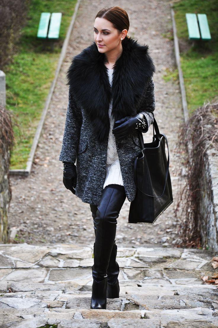 classy gray coat