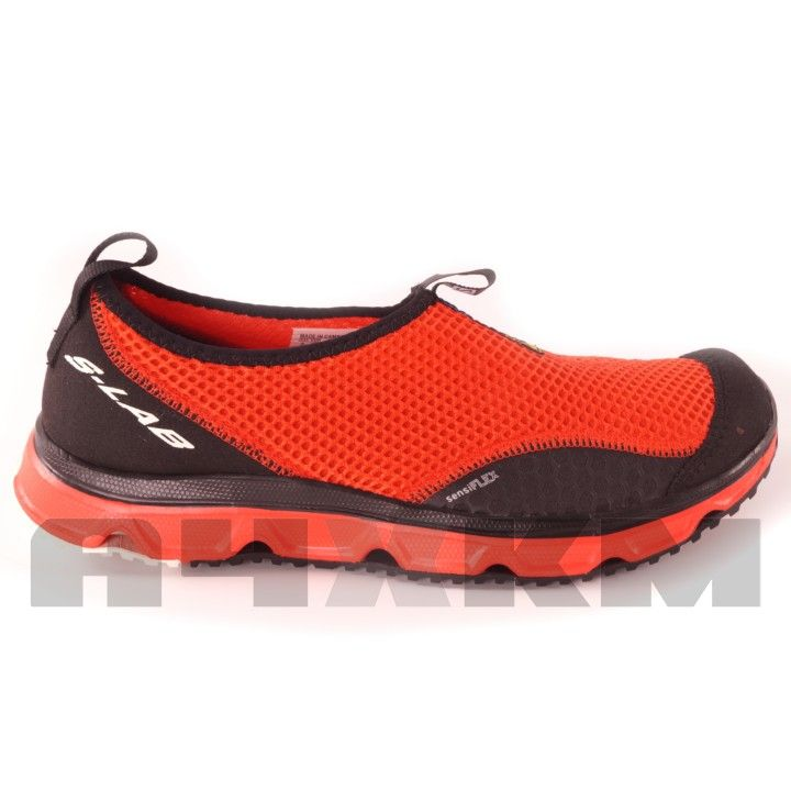 another chance 8ae54 f56c6 Zapatillas de descanso S-Lab RX Moc 3.0 de salomon en colores rojo y negro.  Fabricada con dos paneles SENSIFLEX que proporcionan una flexibi…