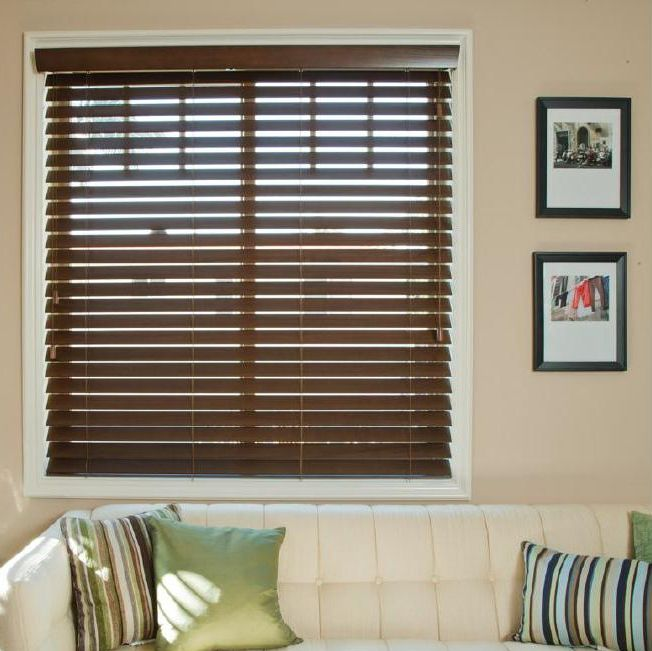 2 fauxwood smartprivacy premium faux wood blinds for 2 faux wood window blinds