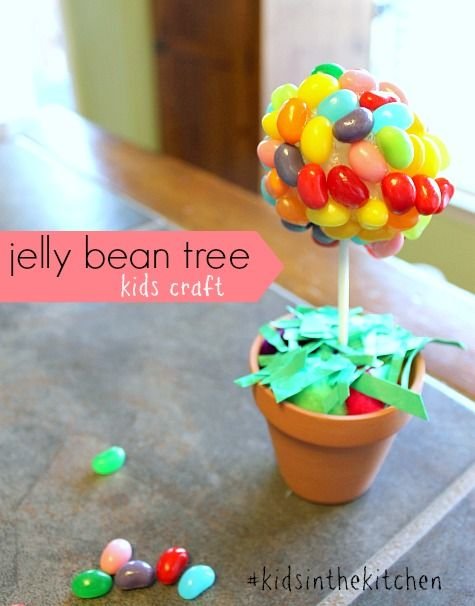 Jelly Bean Tree Craft for Kids #KidsintheKitchen