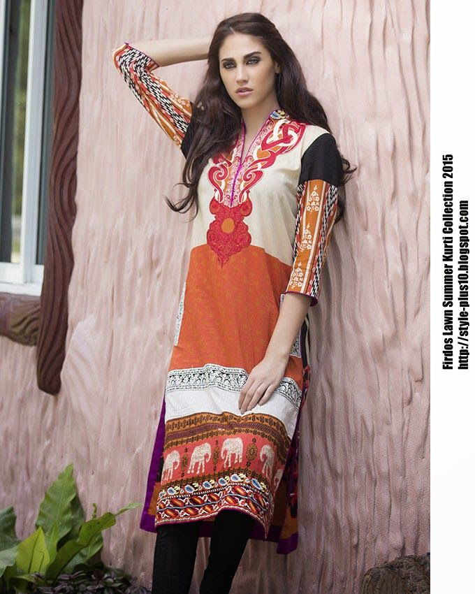 15-EXC-K6A From FIRDOUS Carnival Kurti Collection 2015