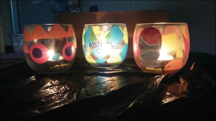 Home made candle holders