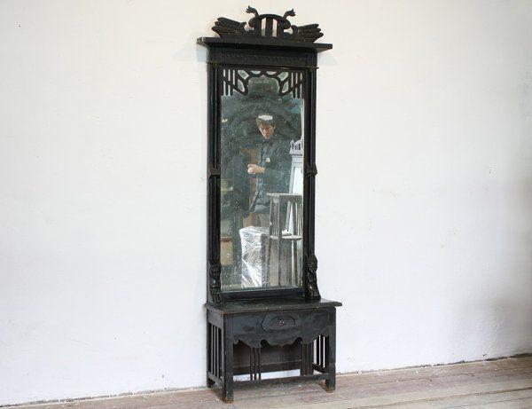 Старинное резное зеркало в русском стиле
