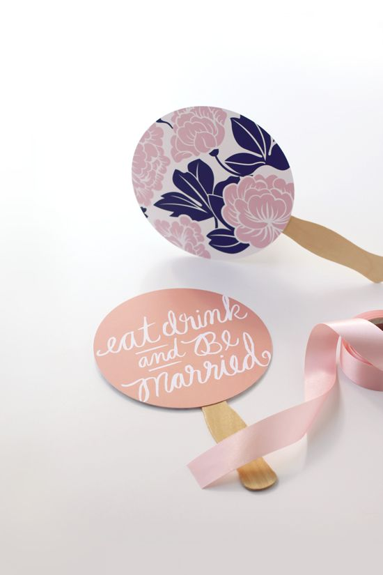 DIY Summer Hand Fan Favors on Julep today thanks to Kelli Hall. http://www.minted.com/julep/2014/04/25/summer-hand-fan-favors/