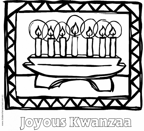 happy kwanzaa coloring pages - photo#15