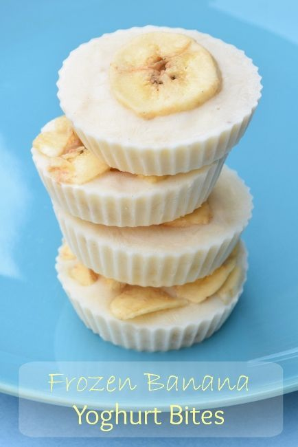 Frozen Banana Yoghurt Bites recipe - Simple and healthy snack idea with only 3 ingredients - easy recipe for kids from Eats Amazing UK