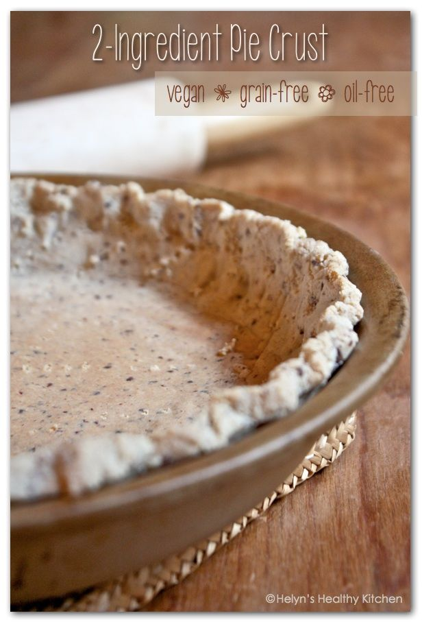 Almond Meal + flax =  2-Ingredient Pie Crust.