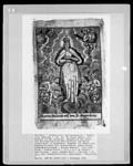 Madonna in der Hoffnung, Gnadenbild der Pfarr- und Wallfahrtskirche Heilig-Kreuz und Mariä Himmelfahrt in Bogenberg, umgeben von Engeln mit Wappenschildern mit verschiedenen symbolischen Bogendarstellungen